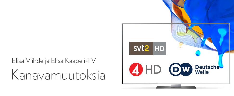 Kanavamuutokset Elisa Viihteessä ja Elisa Kaapeli-TV:ssä